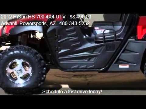 2012 Hisun Hs 700 4x4 Utv 4x4 Side By Side Utv For Sale In Youtube