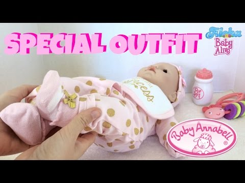 👸🏼 Baby Annabell Princess Outfit 🎀 First Changing of Zapf Creation Baby Annabell Doll!