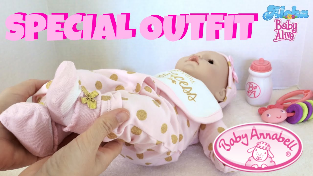 baby annabell princess outfit first changing of zapf. Black Bedroom Furniture Sets. Home Design Ideas