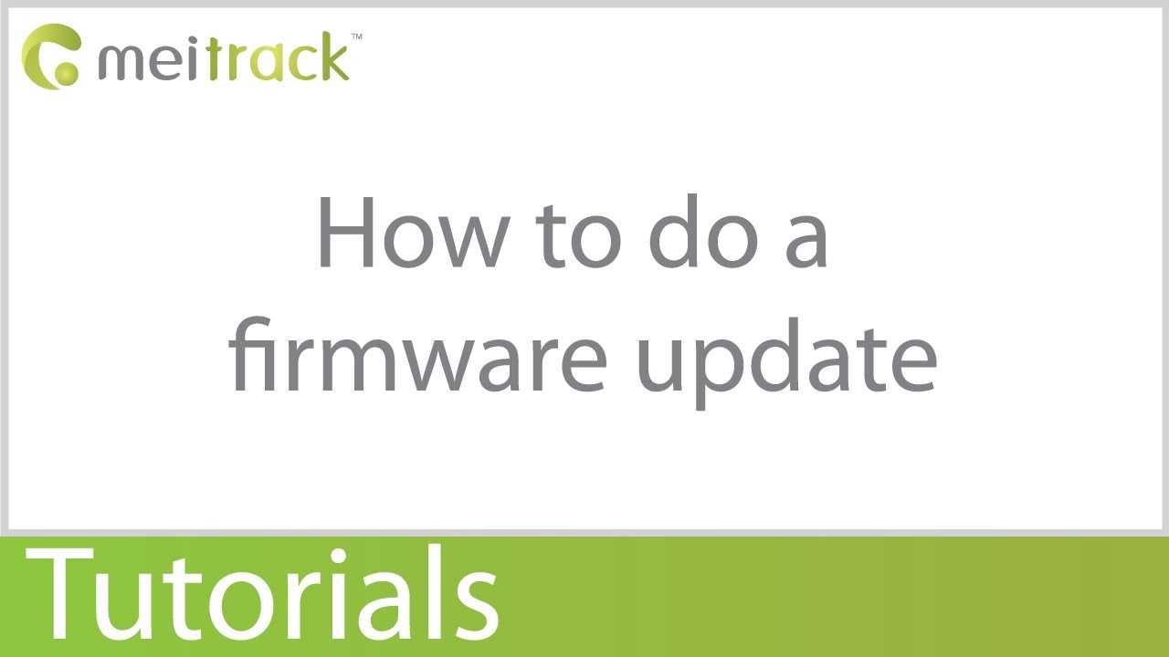 How to do a firmware update Meitrack GPS Trackers
