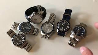 6 Great Swiss Dive Watches From My Collection -   Rolex, Omega, TAG, Oris, RW, C  Ward
