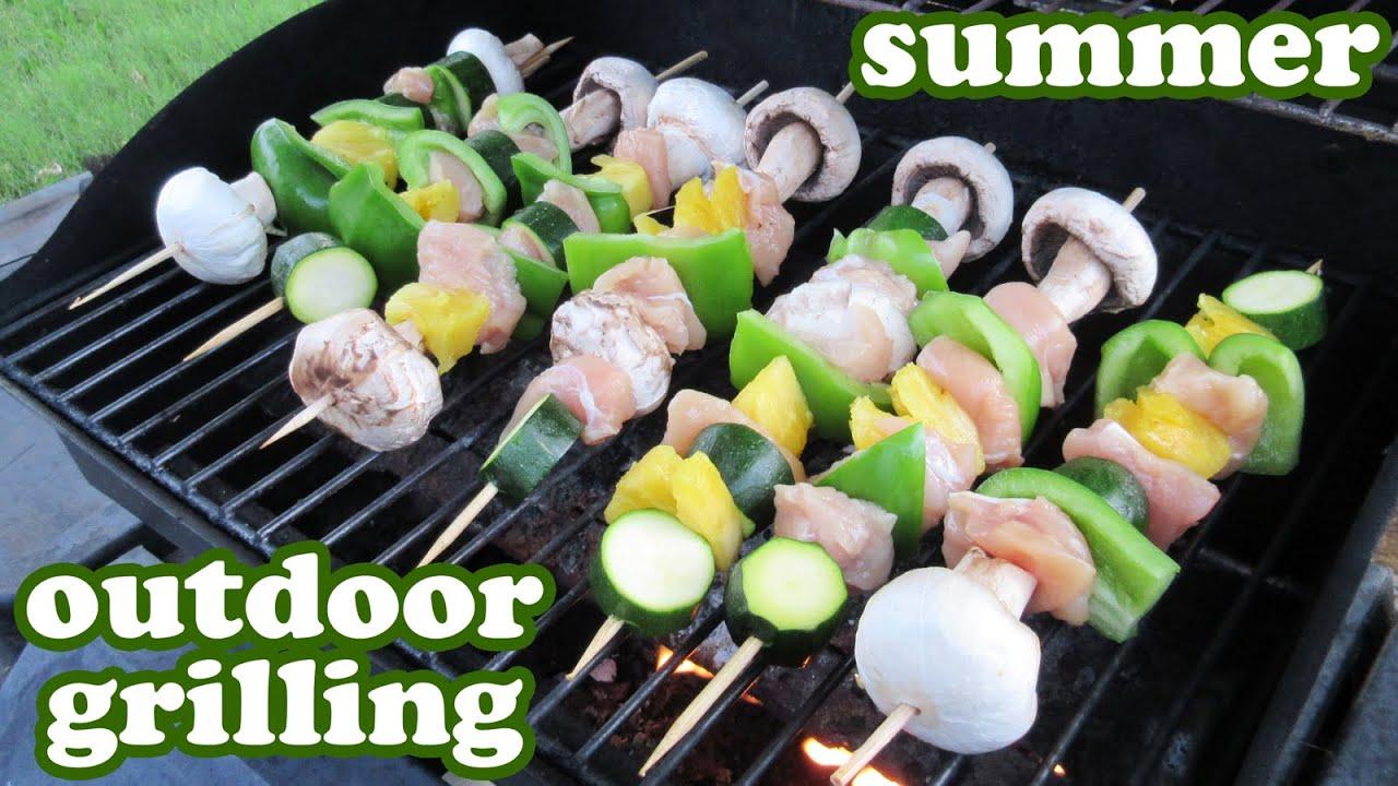 Grilled veggie kabobs barbeque grill chicken recipe outdoor gas youtube premium forumfinder Choice Image