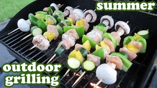 Grilled Veggie Kabobs -barbeque Grill Chicken Recipe - Outdoor Gas Bbq Grills Recipes Ideas -jazevox