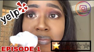 I WENT TO THE WORST REVIEWED MAKE UP ARTIST IN MY CITY (SHE STOLE MY LASHES) PT.1