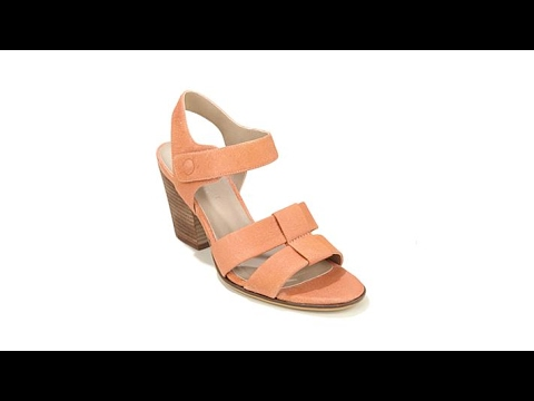 62797cd33 Naturalizer Yolanda Leather BlockHeel Sandal - YouTube