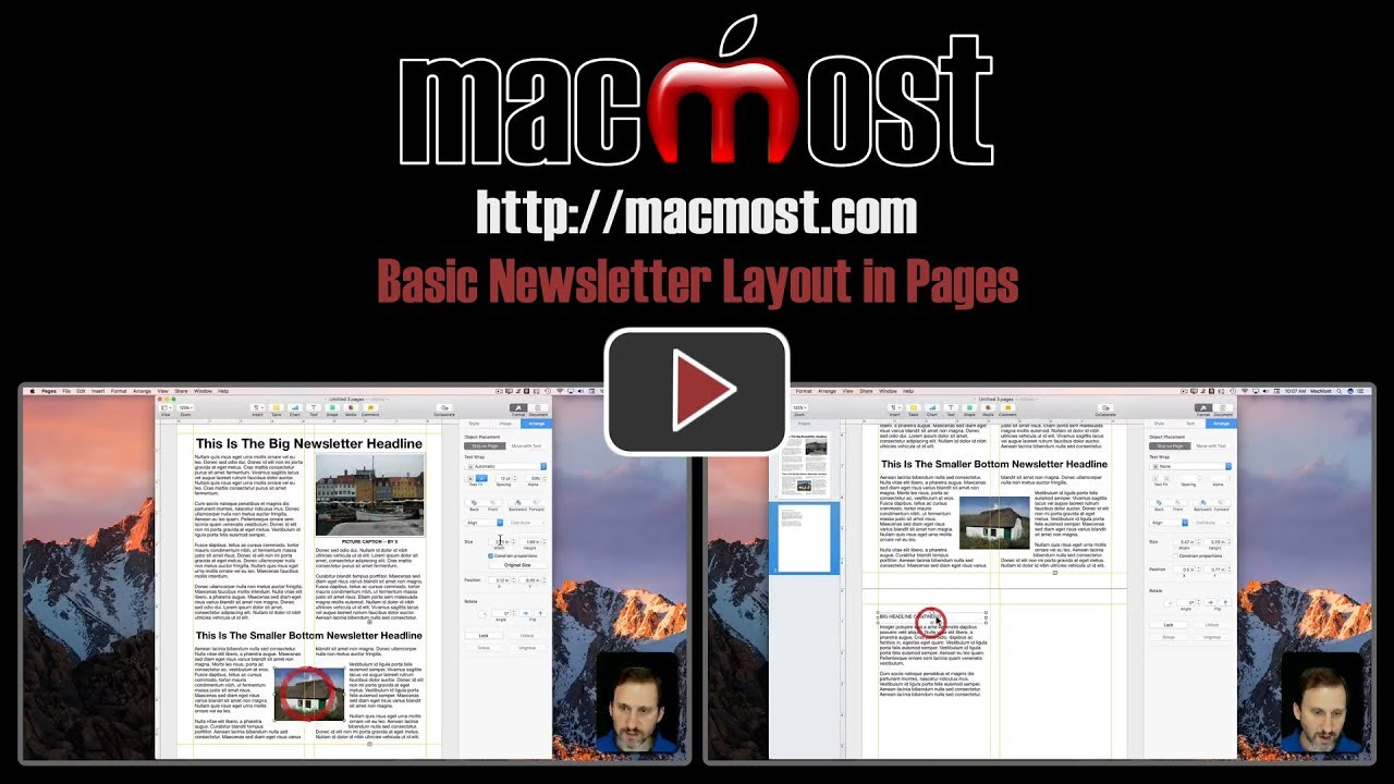 basic newsletter layout in pages 1475 youtube