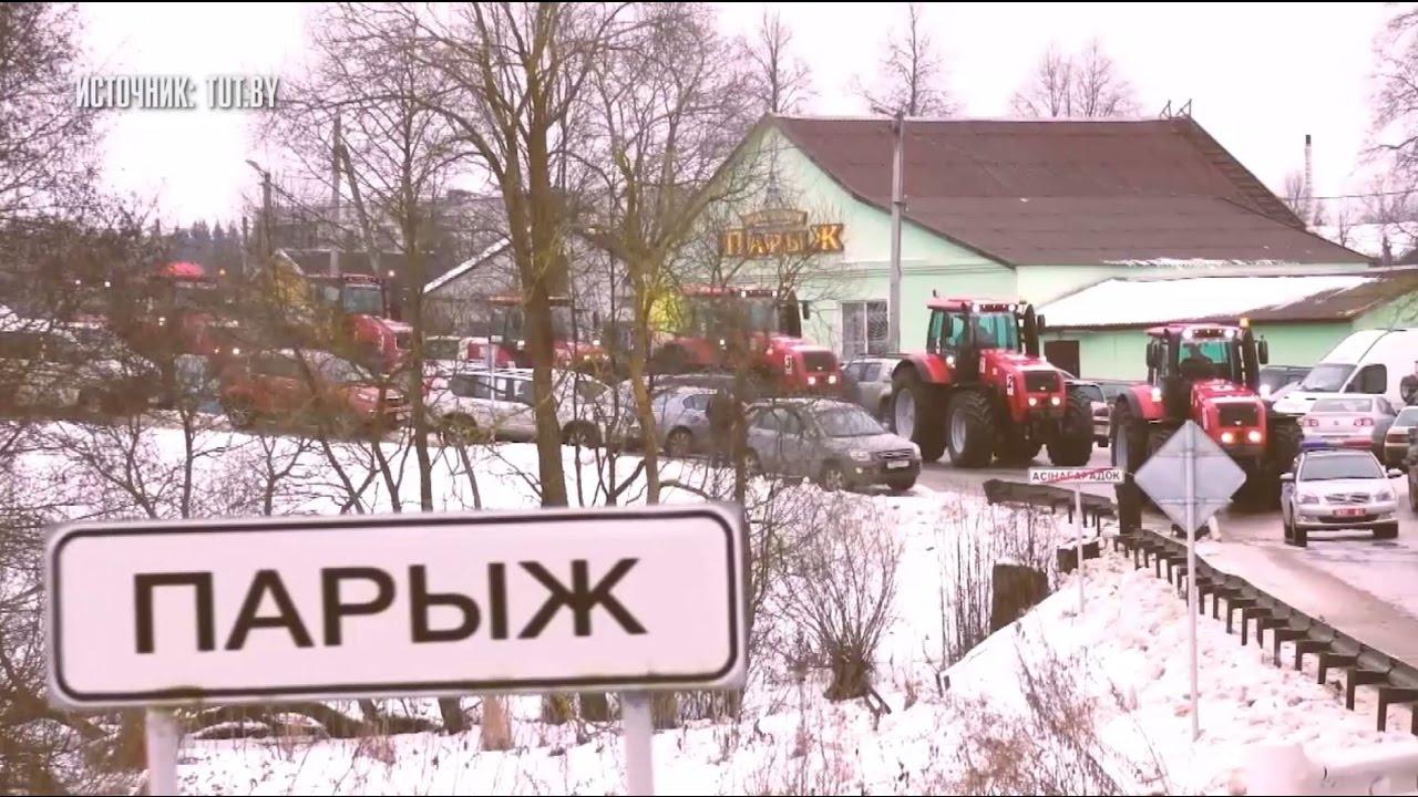 Гонки на тракторах по бездорожью прошли в Белоруссии