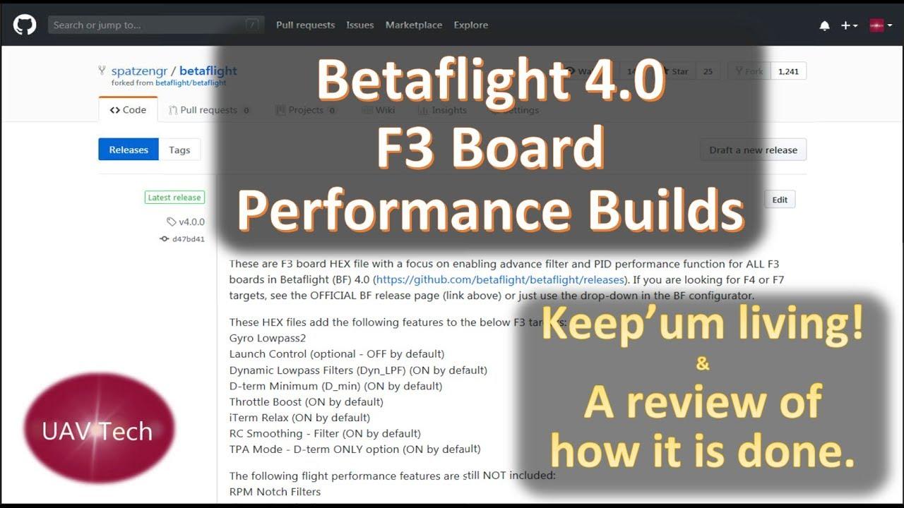 Betaflight 4 0 F3 Board Performance Edit Release