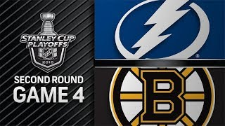 NHL 18 PS4. 2018 STANLEY CUP PLAYOFFS SECOND ROUND GAME 4: EAST LIGHTNING VS BRUINS. 05.04.2018 !