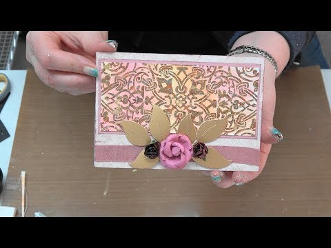 #239  Learn Easy Gilding Flake & Water Coloring Resist Technique by Scrapbooking Made Simple