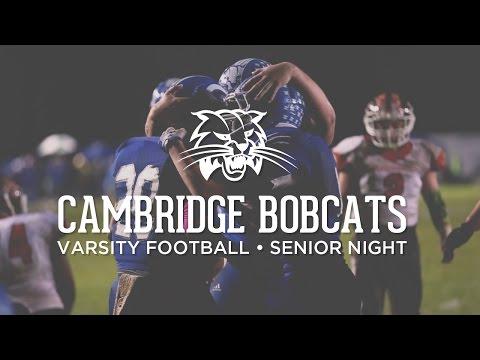 Cambridge Bobcats Varsity Football - Senior Night 2014 - Meadowbrook Game - Cambridge, Ohio