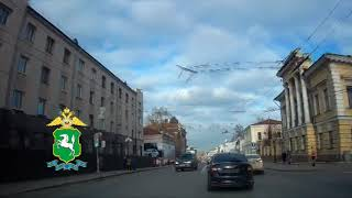 Погоня сотрудников ДПС за автомобилем правонарушителя в Томске