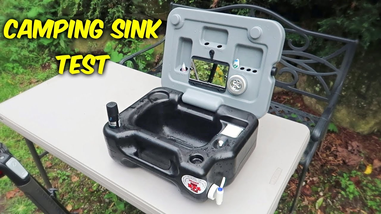 Testing Portable Camping Sink  YouTube