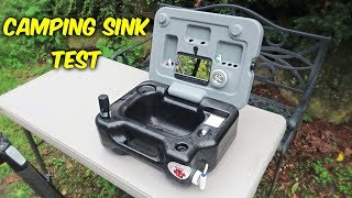 Testing Portable Camping Sink