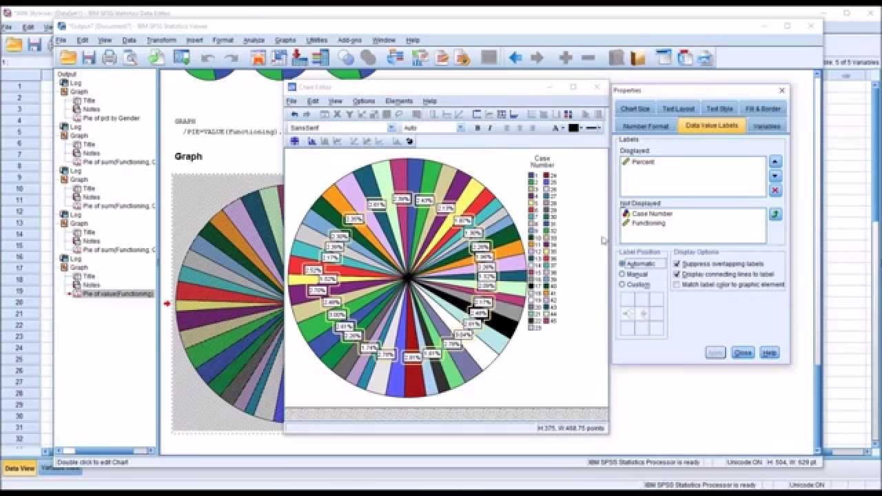 Creating pie charts in spss youtube geenschuldenfo Gallery