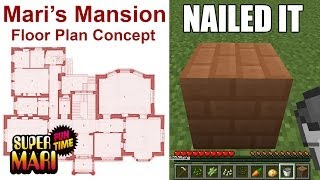 PLAYING HOUSE IN MINECRAFT (Super Mari Fun Time)
