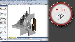 EliteCAD Tips & Tricks - Projektowanie (docinanie) ścian pod schodami.