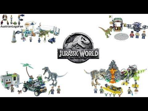 LEGO Jurassic World Legend of Isla Nublar Compilation - Lego Speed Build Review