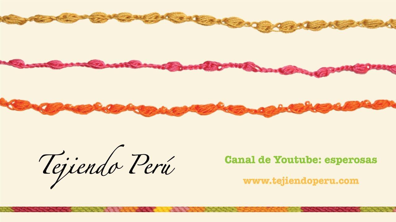 Cómo tejer un cordón de piñas de medio puntos a crochet - Tejiendo ...