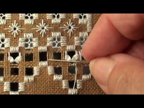 HS01 - Gingerbread Retreat Cottage  - How to  work Greek Crosses Part 2