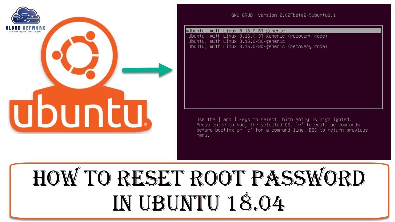How to Reset Root Password in Ubuntu 18 04 From GNU GRUB(Recovery Mode) &  Root Shell(Command Prompt)