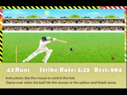 Play Stick Cricket Online >> Miniclip Cricket Defend The Wicket | 1161 Highscore - YouTube