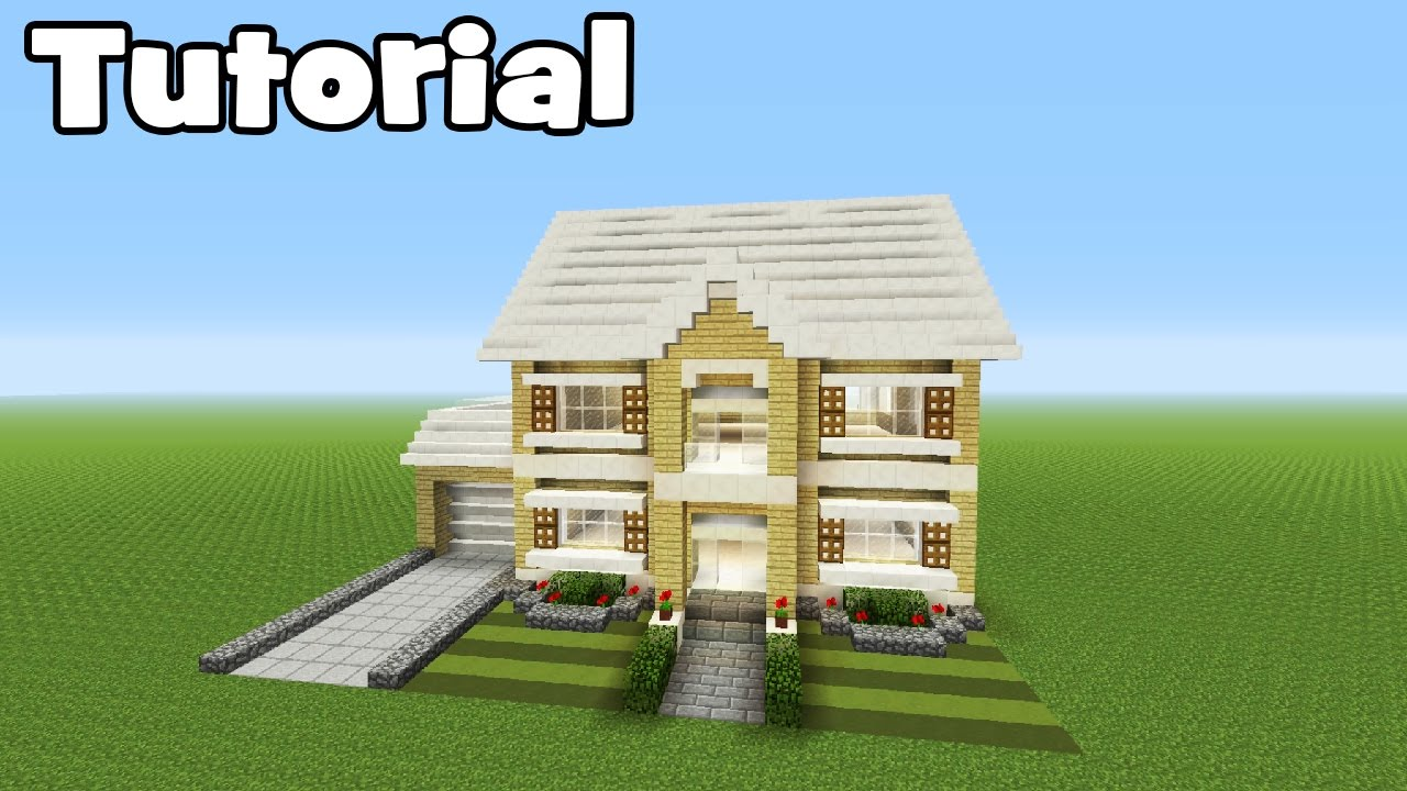 Minecraft Tutorial How To Make A Realistic Suburban Family House Youtube