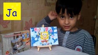 Раскраска по цифрам Раскрашиваем Спанч Боба The coloring  by the numbers Sponge Bob