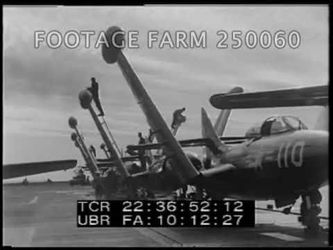 Korean War: Naval Jet Operations On USS Boxer - 250060-15
