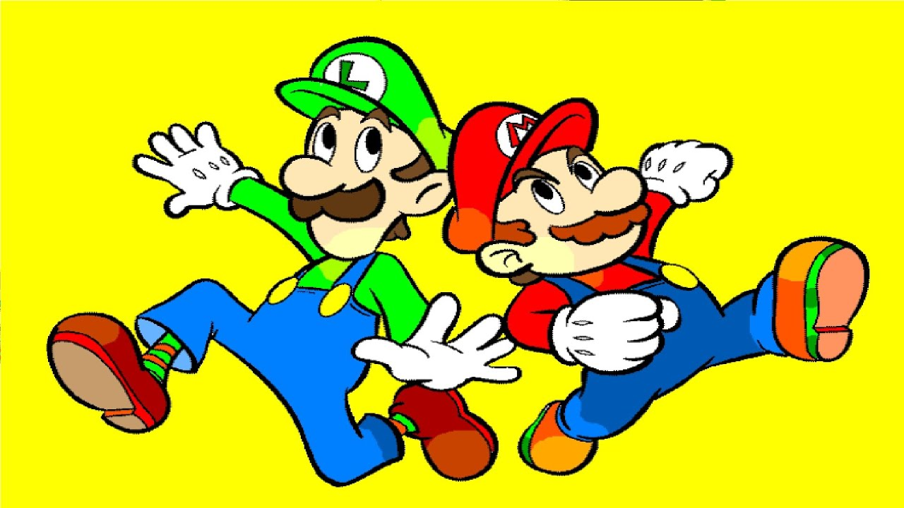 mario and luigi coloring pages youtube