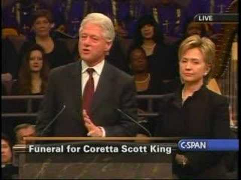 Remarks by President Clinton at Coretta Scott King's funeral