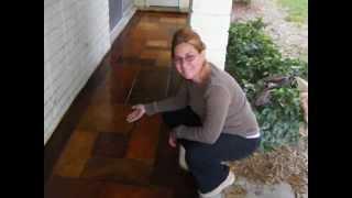 acid stain floor by roxana zamora