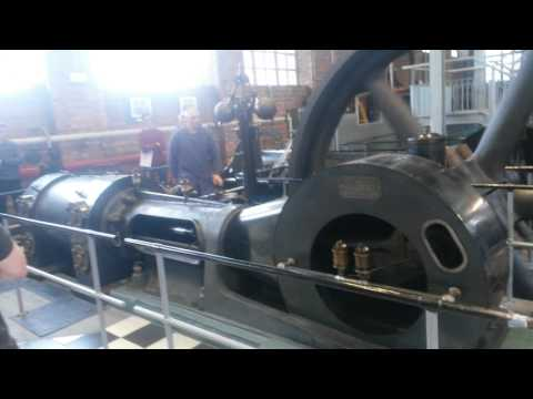 Starting steam engine in Heverlee, Belgium