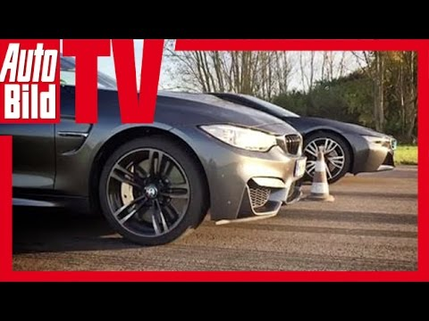 Dragrace Bmw I8 Vs M4 2014 Youtube