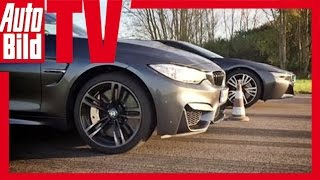 dragrace bmw i8 vs m4 2014