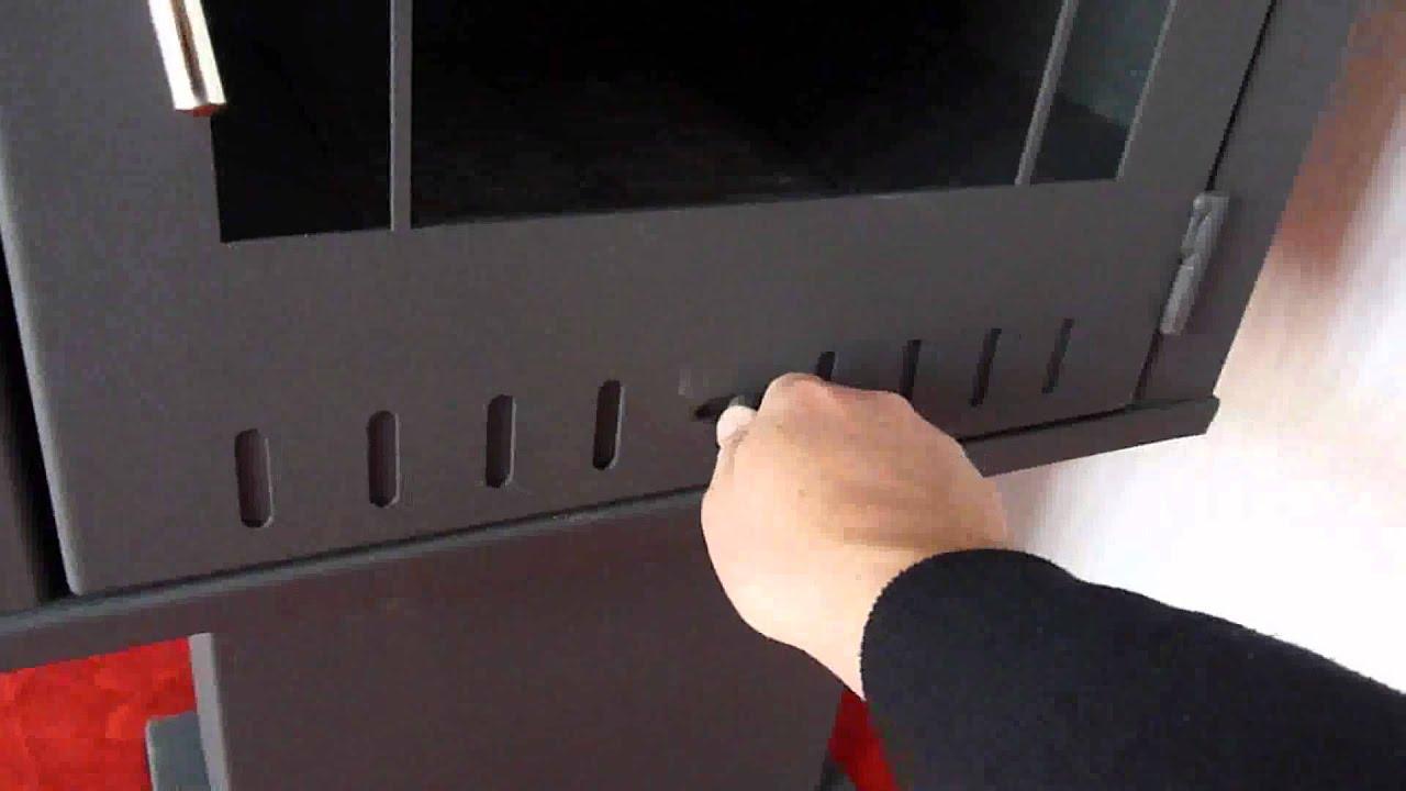 poele bois quadro rouge la maison du poele bois youtube. Black Bedroom Furniture Sets. Home Design Ideas