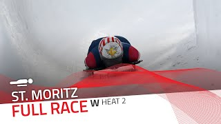 St. Moritz | BMW IBSF World Cup 2020/2021 - Women's Skeleton Heat 2 | IBSF Official