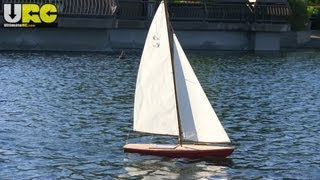 Vintage Wooden Rc Sailboat At Heather Farm