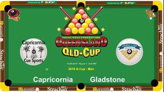 2019 Q-Cup Mens 8 Ball Teams - Capricornia v Gladstone