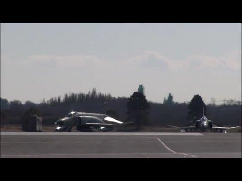 朝の百里 RFー4 Takeoff~F-4ファントム エンジンランナップ Rwy03R 百里基地 nrthhh