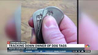 Dog tags accidentally donated to charity, returned
