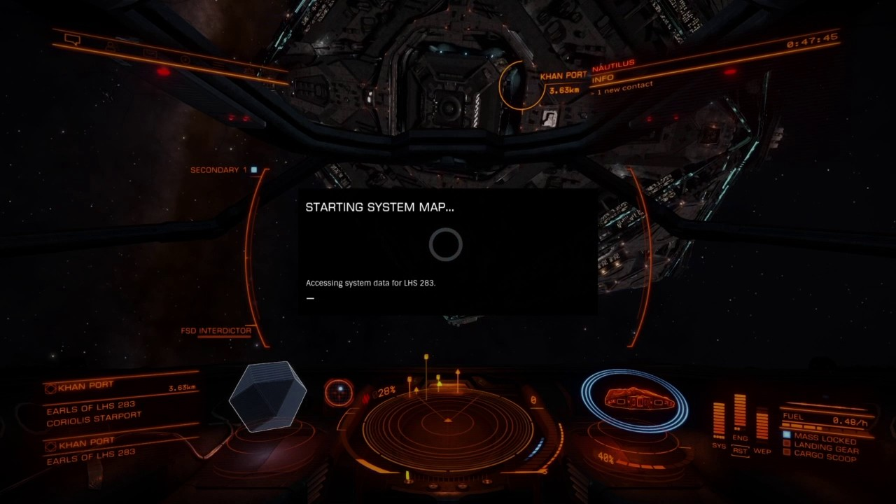 Elite Dangerous Star Map And Docking Youtube