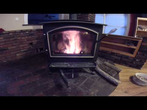 Best way to clean wood stove glass and start a fire in a
