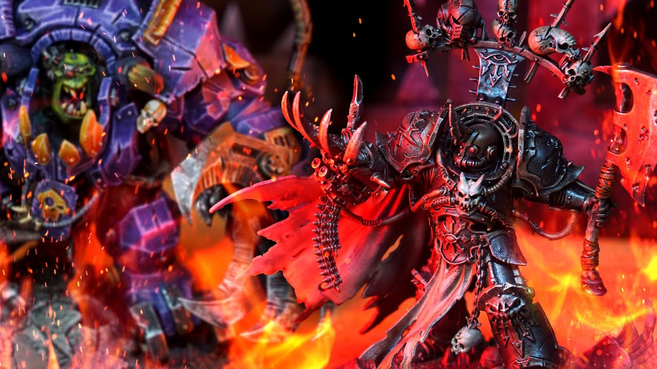 Orks vs Chaos   500 point narrative Warhammer 40k battle report