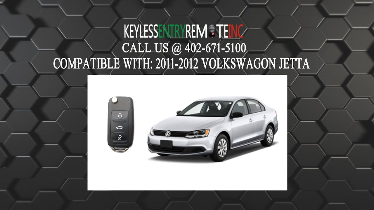 replace volkswagen jetta key fob battery   youtube