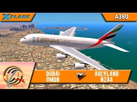 [X-PLANE] Dubai [OMDB] to Auckland [NZAA] | UAE448 | A380 [IVAO]