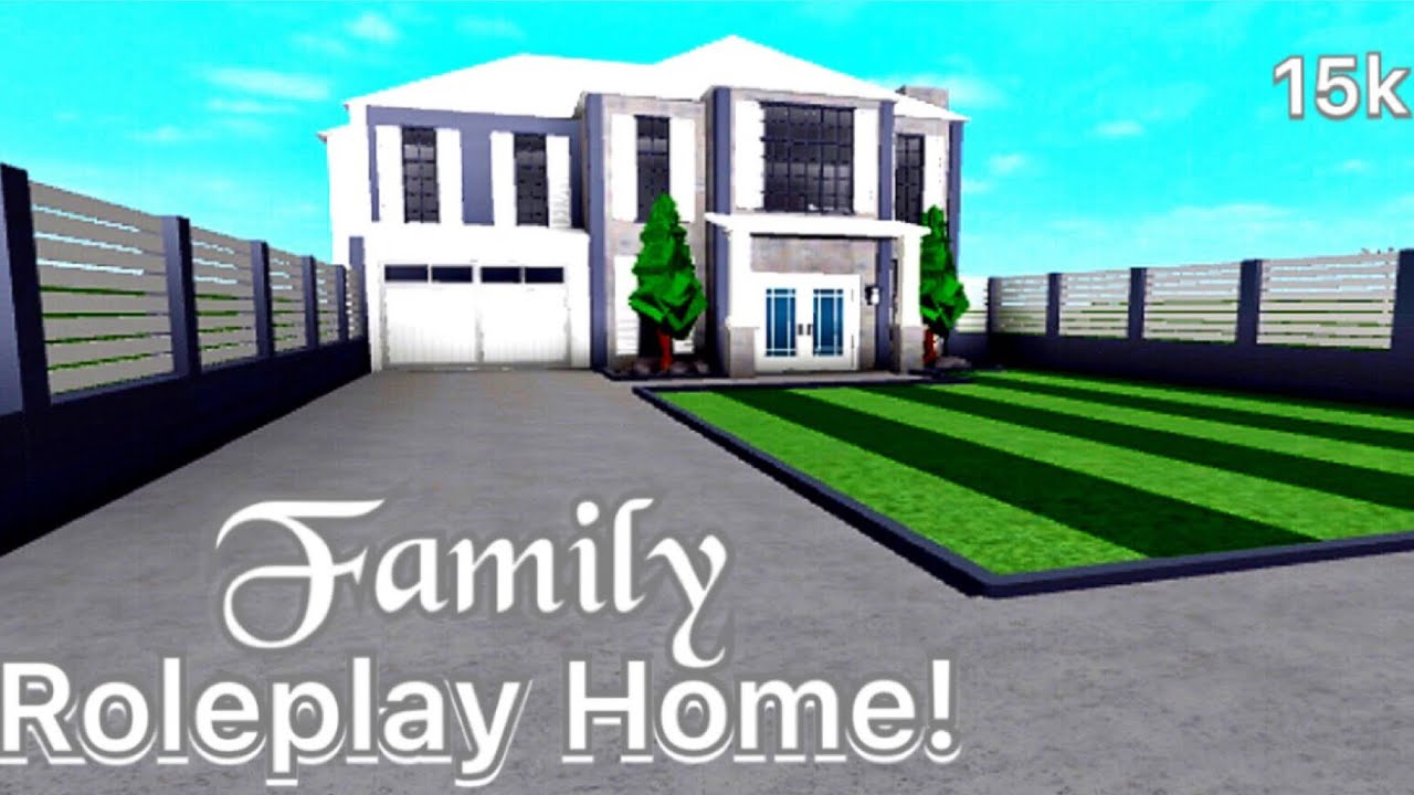Roblox Bloxburg Family Roleplay Home 15k Exterior