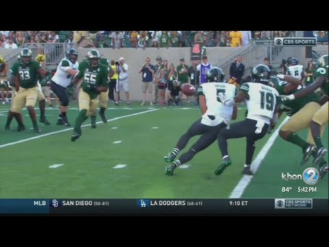 University of Hawaii Warriors win their season opener at Colorado State