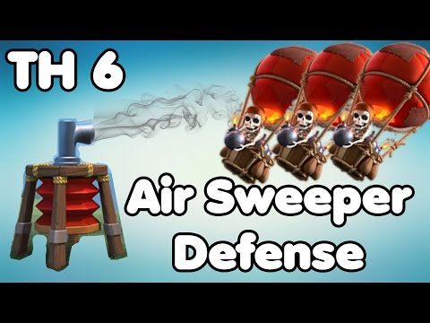 Clash Of Clans Wn Hall Base With Air Sweeper