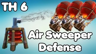 Clash of Clans Town Hall 6 Defense With Air Sweeper (CoC TH6) Hybrid Base Defense Strategy